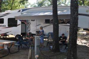 Relaxing by RV in Campground