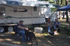 Relaxing in Campground