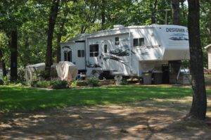 RV Exterior View of Landscaping