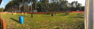 Wide View of Laser Tag Field