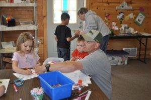 Dad Helping in the Craft Room