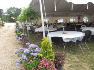 Wedding w Flower Setup