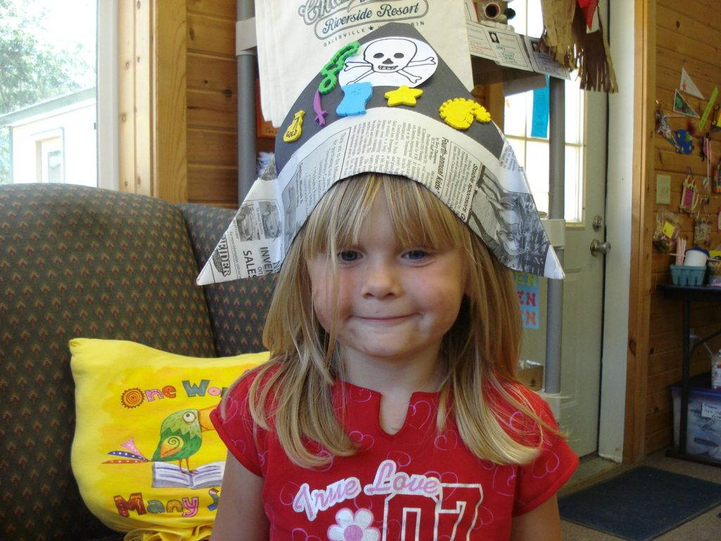 Little Girl w Paper Hat