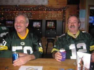 Smiling Packer Fans at Champions Bar