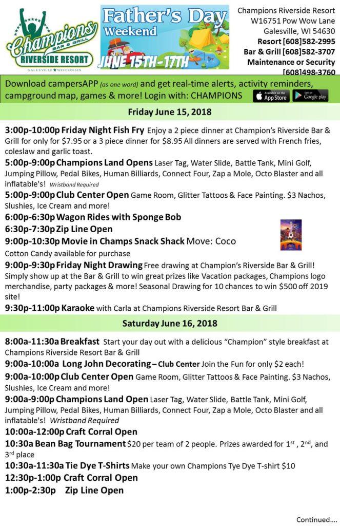 Scheduled Weekend