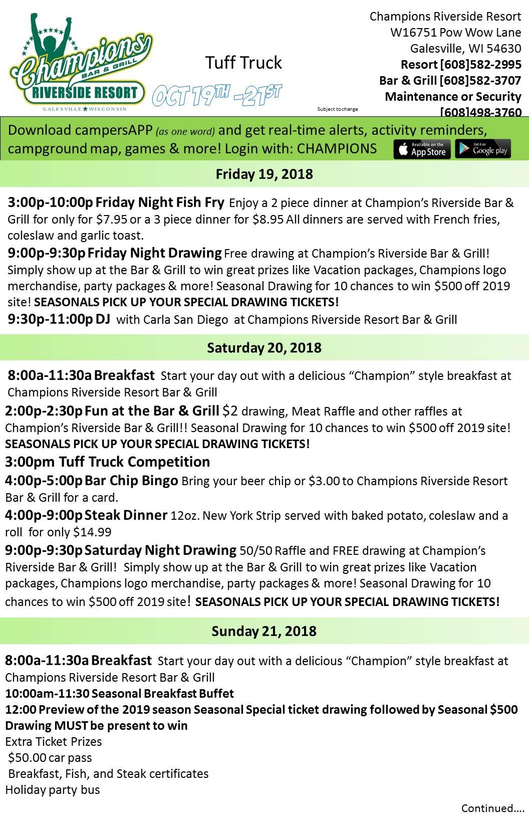 tuff truck weekend activity sheets